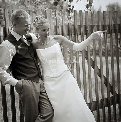 Photo de mariés en alsace