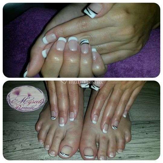 Gel french mains et pieds
