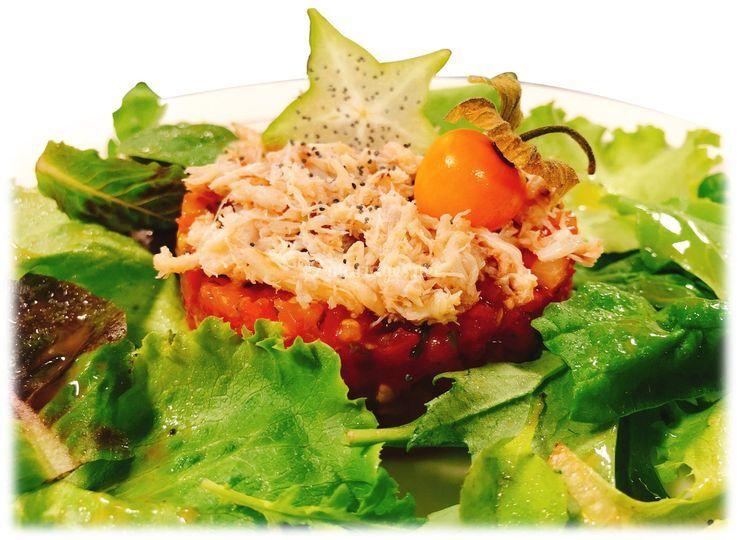Tartare de tomates aux herbes