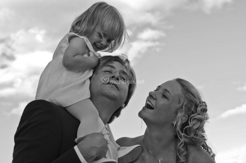 Couple et sa petite fille