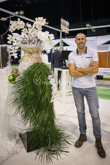 Robe de mariée en fleurs