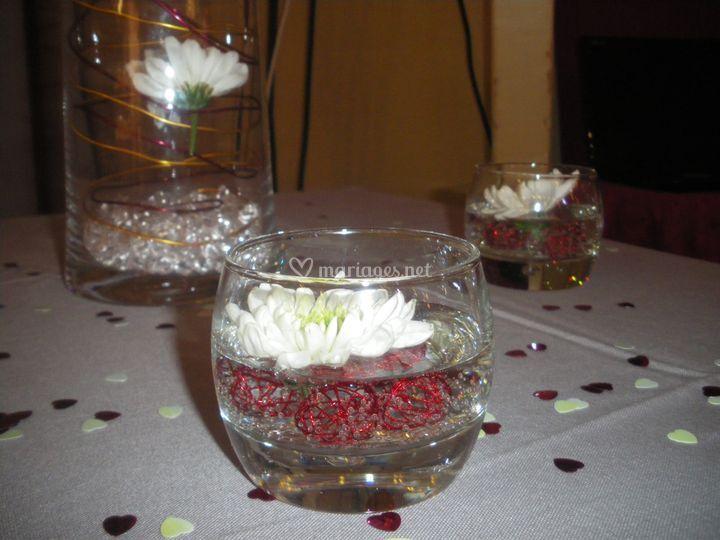 Décoration dans un verre