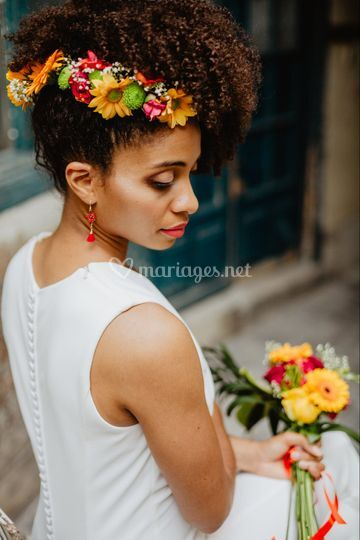 Tropical wedding in Paris