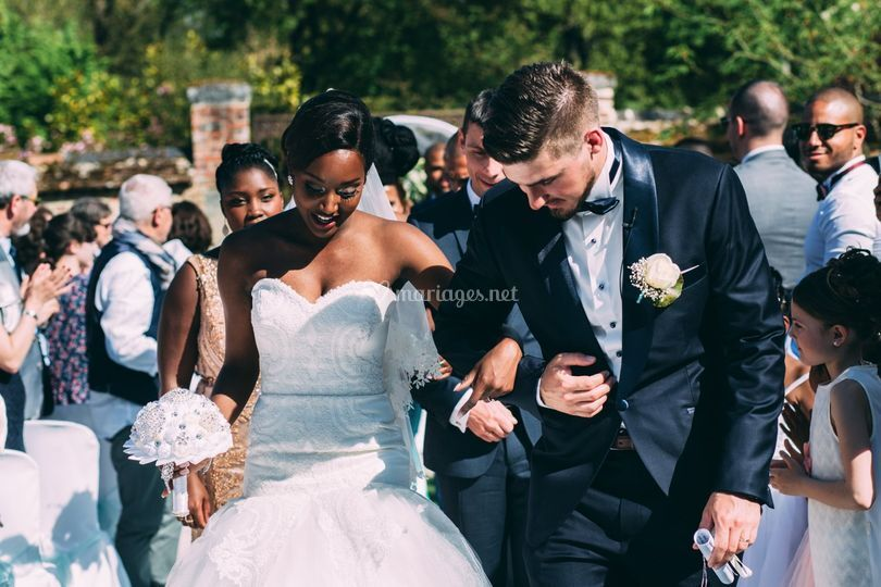 Interracial wedding in Oise