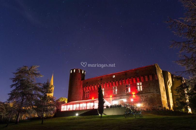 Le château sous un ciel étoilé