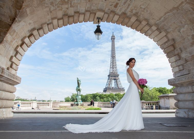 Mariage Tour Eiffel by PhiArty
