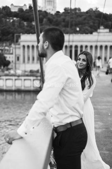 Couple Lyon noir et blanc