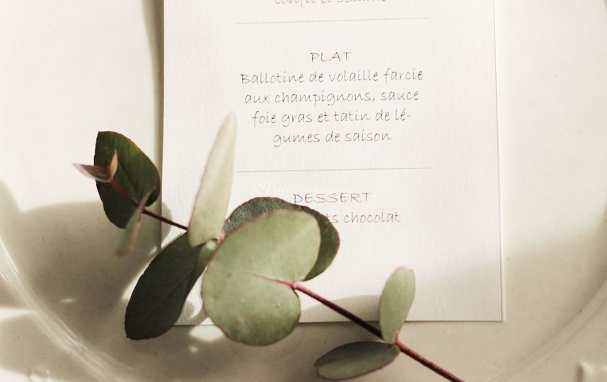 Détails menu