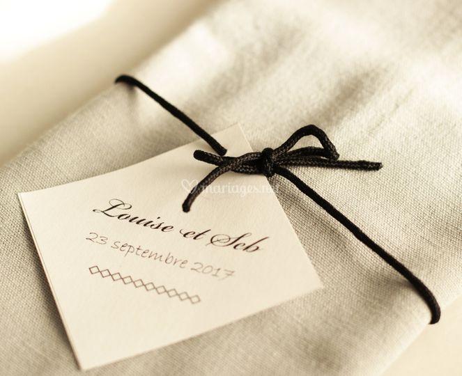 Détail serviette