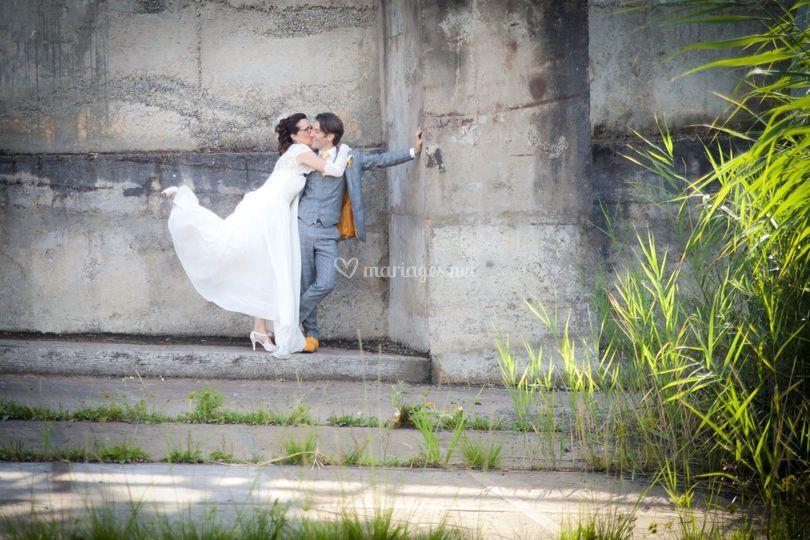 Photo couple en ville
