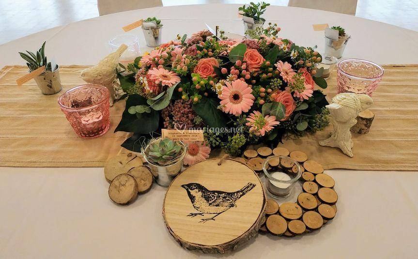 Décor floral de table