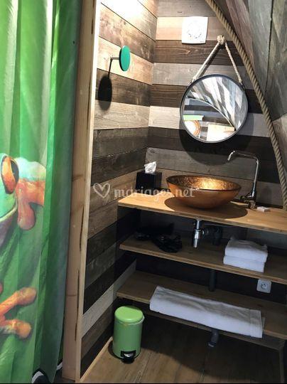 Salle de douche grenouilles