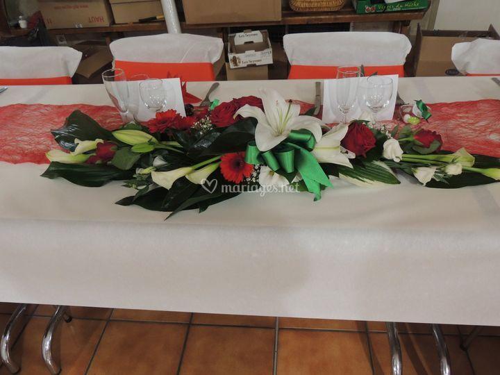 Centre de table honneur