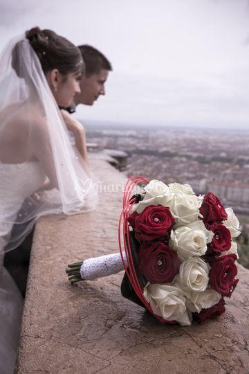 Pluie mariés