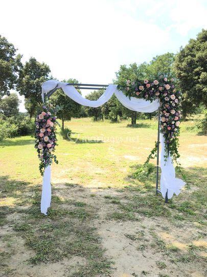 Arche florale pour cérémonie