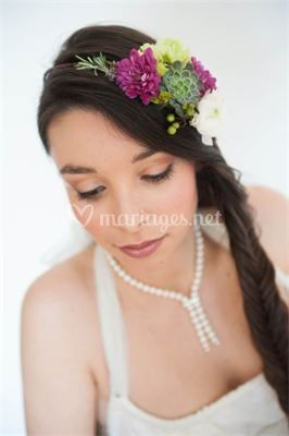 Maquillage lèger mariée