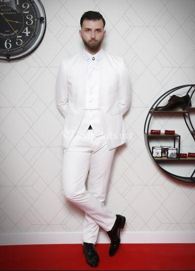Costume Mariage 4 pièces Blanc