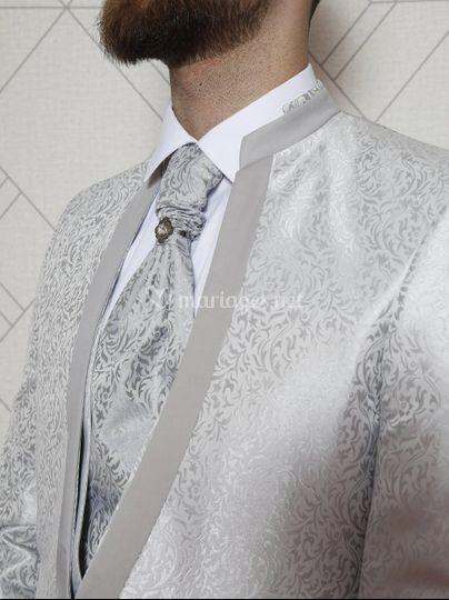 Costume Mariage 4 pièces motif