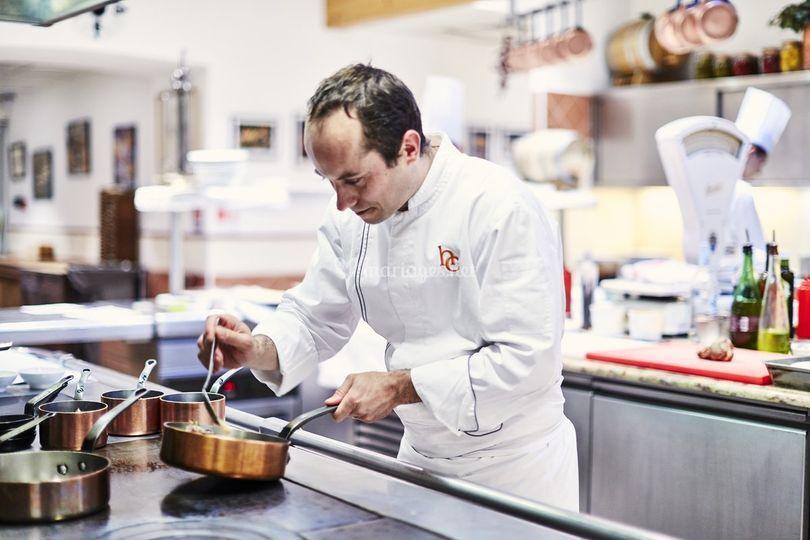 Le chef Nicolas Pierantoni