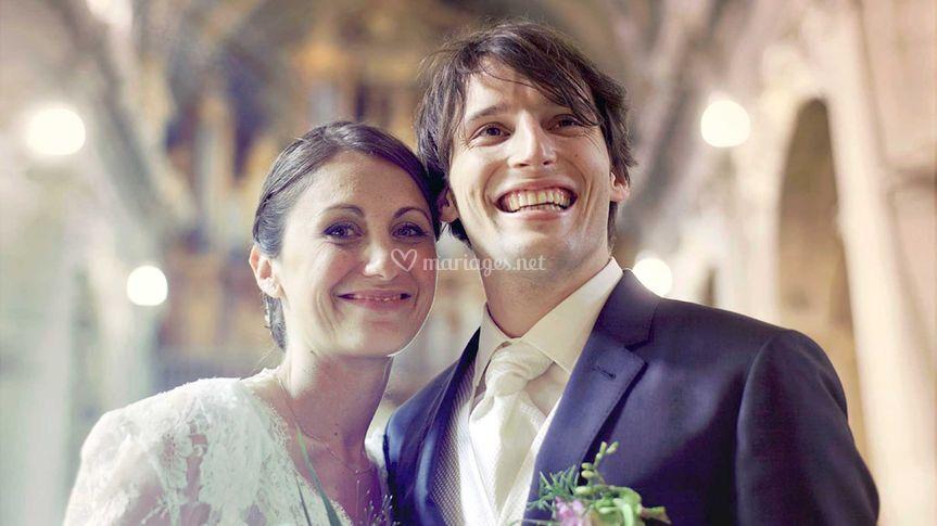 Baptiste et Emilie à l'église