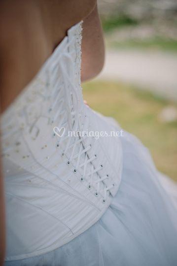 """Givre"" dos du corset"