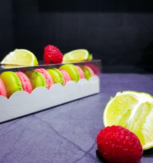 Macaron framboise citron vert