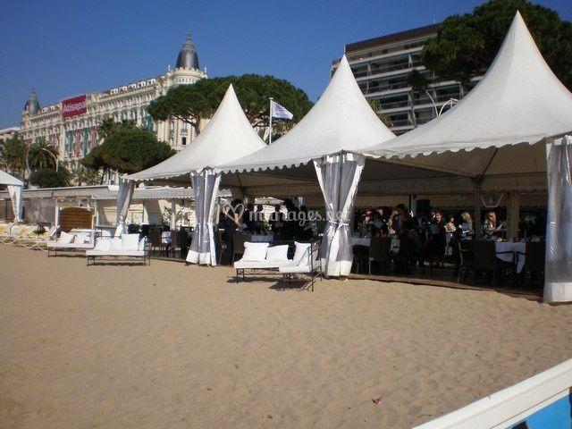 Réception avec tentes