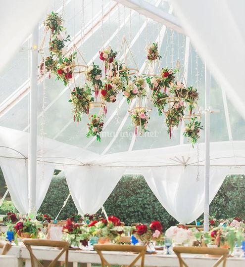 Plafond fleurie