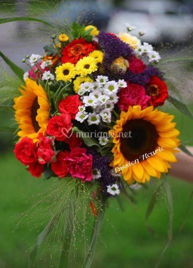 Bouquet rond champêtre.