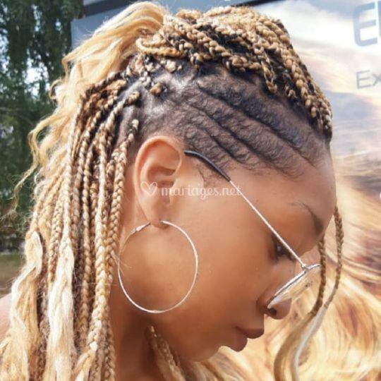 Box braid stylé