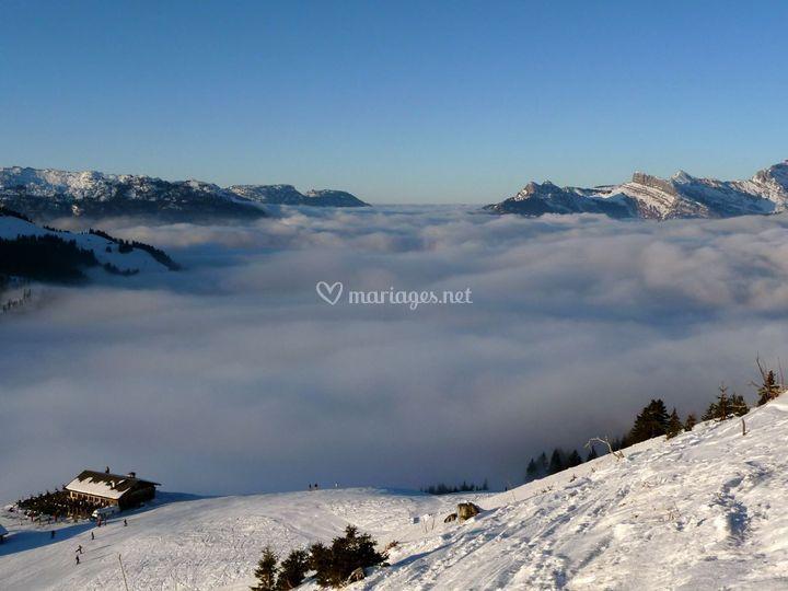 La mer de nuage en hiver