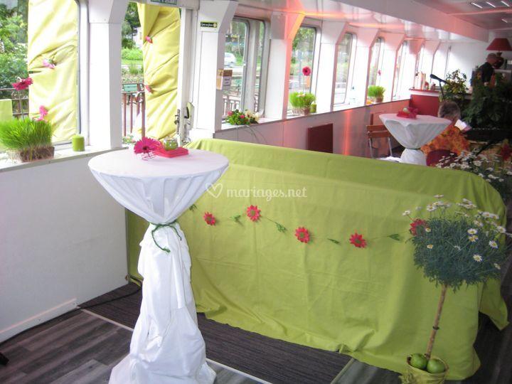 Accueil bateau champêtre
