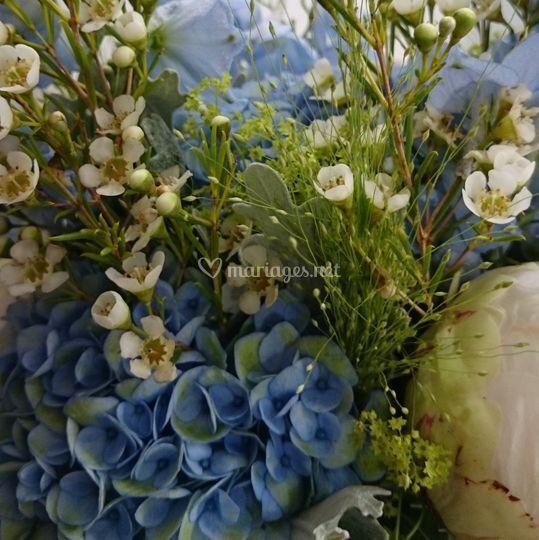 Bouquet de mariée champètre