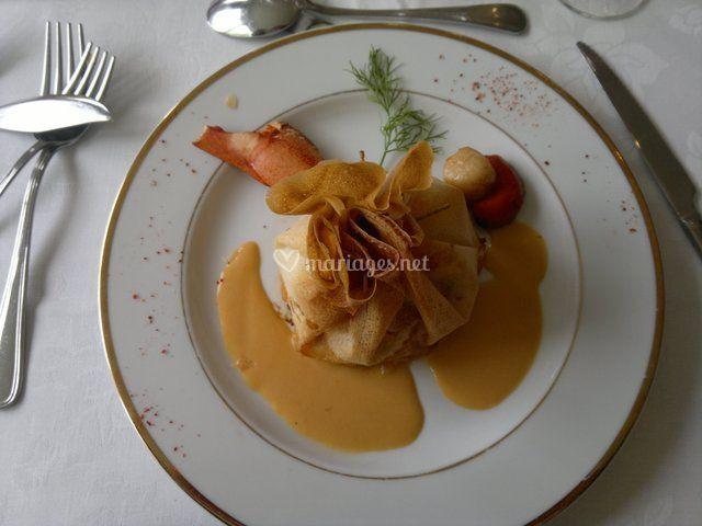Croustillant de homard et St-Jacques