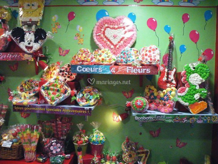 Boutique sur Bonbons Festif