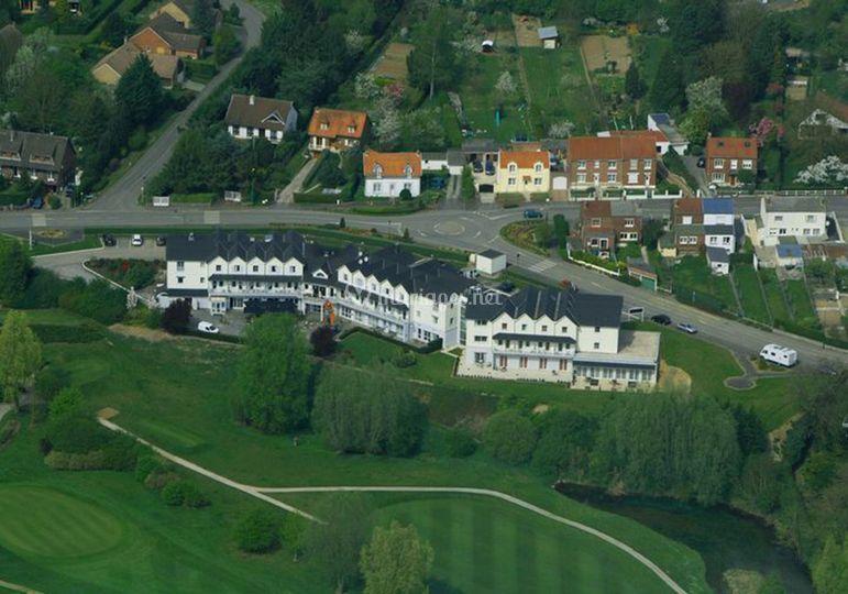 Hôtel du Golf d'Arras - vu du ciel