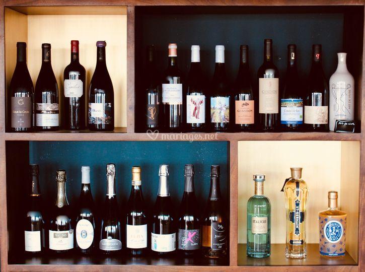 Sélection de vins et spiritueux