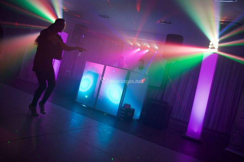 Lumières piste de dance