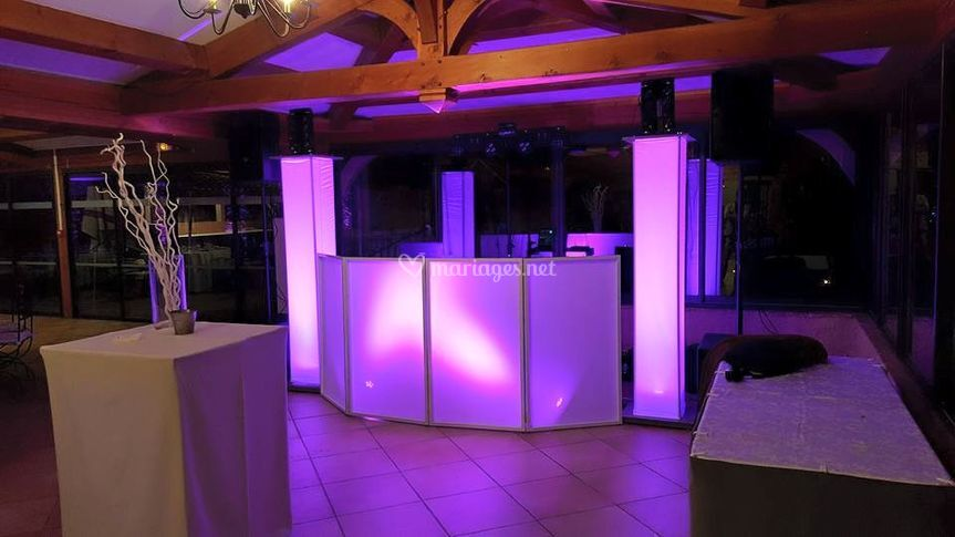 Installation stand DJ