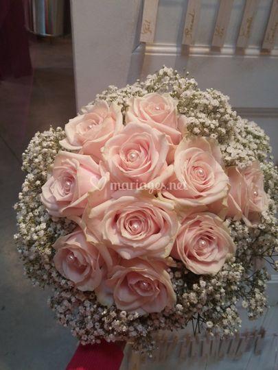Bouquet mariée rosé