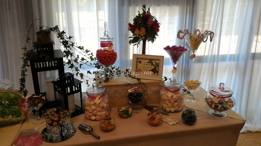 Candy bar fleuri