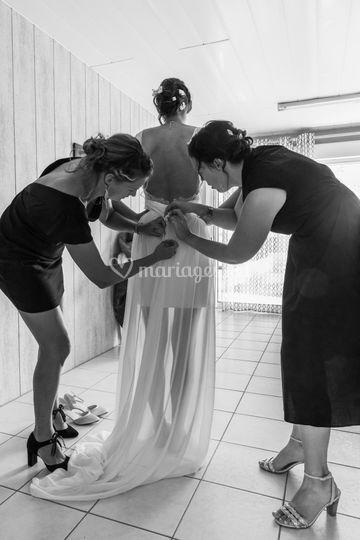 Préparatif robe