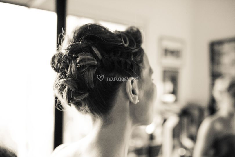 Mariage Agathe / coiffure