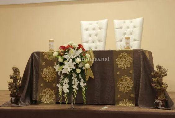La table de la mariée et le marié
