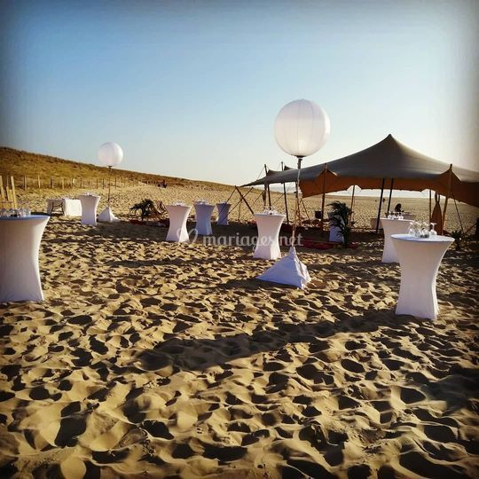 Dîner Lounge sur la plage