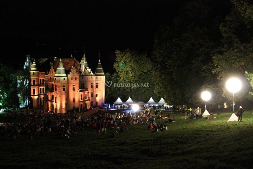 Le château en lumière