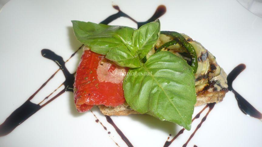 Tapas de tomates confites