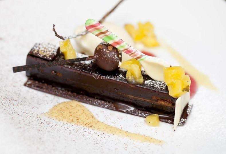 Allumette chocolat ananas confit