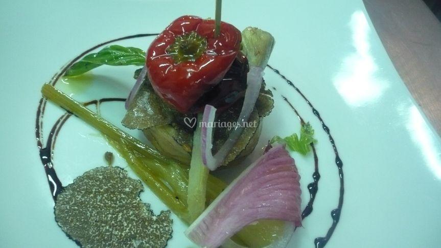 Légume confite à l'huile d'olive