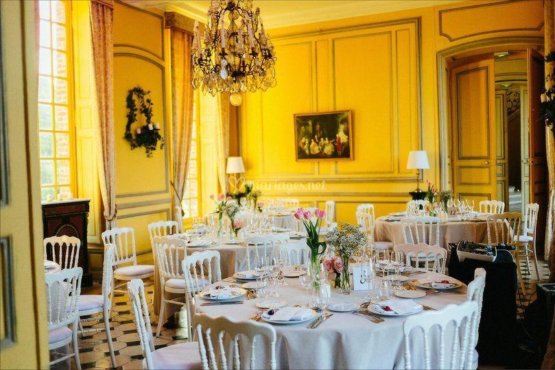 Château : salle à manger d'hiver